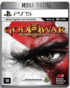 God of War 3 Remastered - Ps5 Psn - Mídia Digital Primária Retro