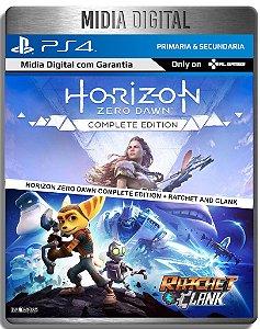 Horizon Zero Dawn Complete Edition e Ratchet e Clank - Ps4 Psn - Mídia Digital Primária