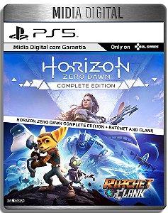 Horizon Zero Dawn Complete Edition e Ratchet e Clank - Ps5 Psn - Mídia Digital Retro
