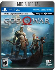God of War Gow - Ps4 Psn - Midia Digital Secundária