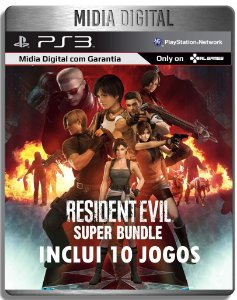 Resident Evil Super Bundle - 10 Jogos Da Saga - Ps3 Psn - Midia Digital