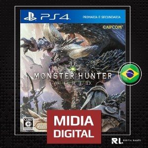 Monster Hunter World - Ps4 - Midia Digital Primária Psn