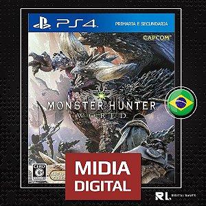 Monster Hunter World - Ps4 - Midia Digital Primária Psn