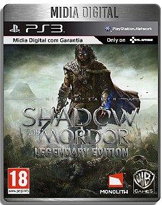 Middle Earth Shadow of Mordor Edição Lendaria - Midia Digital Ps3 Psn