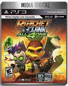 Ratchet And Clank All 4 One Ps3 Psn - Mídia Digital