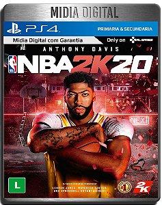 NBA 2K20 - Ps4 Psn - Mídia Digital Secundária