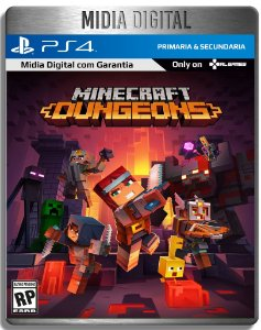 Minecraft Dungeons - Ps4 Psn - Mídia Digital Primária