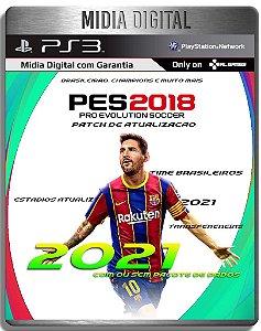 Patch de Atualização PES 2018 Elencos Times 2021 - Jogo não Incluso - Ps3 - Mídia Digital
