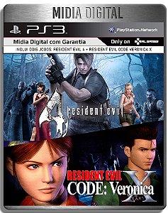 Resident evil 4 + Code Veronica X HD - Ps3 Psn - Mídia Digital