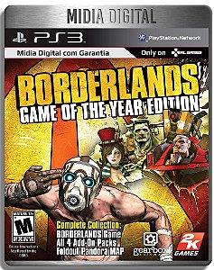 Borderlands Game of The Year + Todas as Dlcs - Ps3 Psn - Mídia Digital