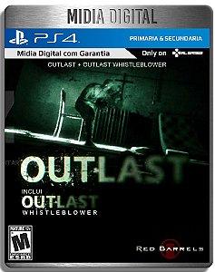 Outlast + Outlast Whistleblower - Ps4 Psn - Mídia Digital Primaria