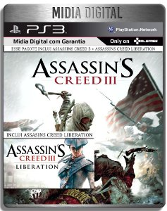 Assassins Creed 3 + Assassins Creed Liberation - Ps3 Psn - Mídia Digital