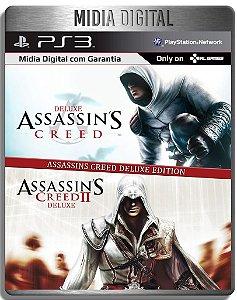 Assassins Creed 1 E 2 Deluxe + Dlcs - Ps3 Psn - Midia Digital