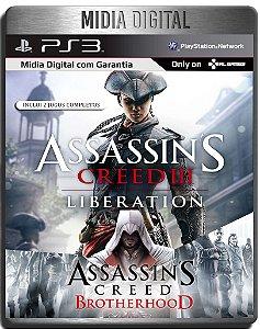 Assassins Creed Brotherhood & Liberation HD - Ps3 Psn - Mídia Digital