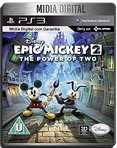 Disney Epic Mickey 2 The Power of Two - Ps3 Psn - Mídia Digital