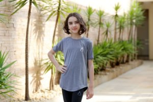 Camiseta Cinza Feminina - Adulto