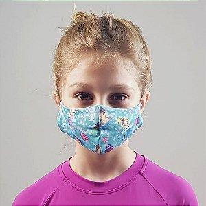 Máscara de Tecido para Proteção Infantil UV.LINE - Sereia