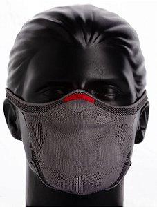 Máscara Knit Cinza Chumbo - Campanha Sou do Esporte