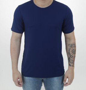 Camiseta Antiviral MARINHO Manga Curta Masculina - Adulto
