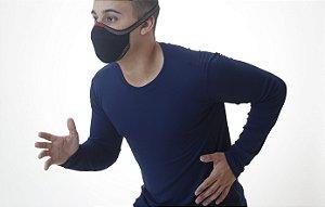 Camiseta Manga Longa Antiviral Marinho Masculina - Adulto
