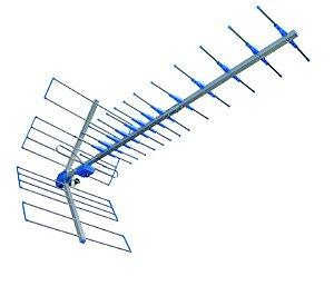 _Antena Yagi 15 dBi para sinais de TV digital.