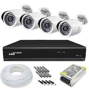 Kit CFTV Luxvision completo R$ 1380,00 com 04 Câmeras