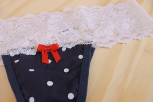 Calcinha de algodão com Renda
