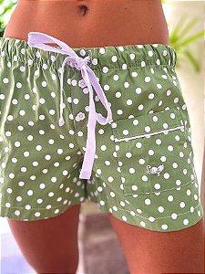 Short Verde Poá