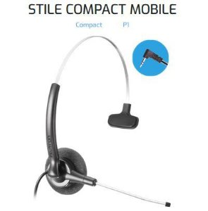Headset Tiara P1 Felitron Stile Compact Mobile tubo de voz fixo