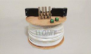 Kit Instalação de Cameras Conectores (Kit de Materiais para instalação CFTV)