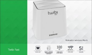 Roteador Twibi Fast (o par) rede Mesh - Intelbrás