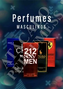 Kit Revenda com 10 perfumes masculinos