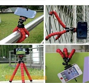 Mini Suporte Celular Câmera Tripé Mesa Escalável Gira 360°