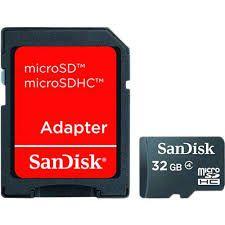 Cartão de memoria 32gb sdhc+ adaptador