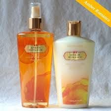 Kit creme+splash amber romance 250ml cada