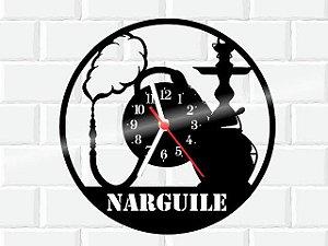 RELOGIO DE PAREDE PERSONALIZADO EM DISCO DE VINIL NARGUILE