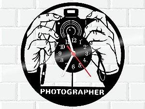 RELOGIO DE PAREDE EM DISCO DE VINIL PHOTOGRAPHER