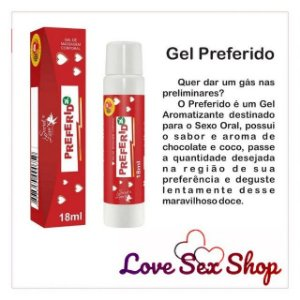 Preferido gel aromatizante e massagem beijavel 18ml