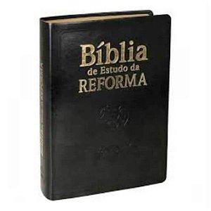 Bíblia de Estudo da Reforma / Almeida Revista e atualizada / preta / SBB