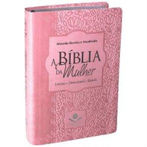 Bíblia da Mulher Almeida Revista e Atualizada Rosa Claro