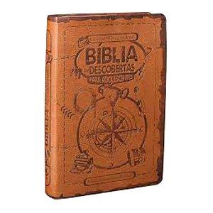 Bíblia das Descobertas para adolescentes  / NTLH  / Marrom claro / SBB
