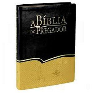 A Bíblia do pregador / Almeida revista e atualizada / preto amarelo/ Editora Esperança / SBB