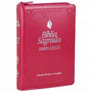 Bíblia sagrada com fonte benção / letra maior / harpa cristã / ziper / indice / SBB