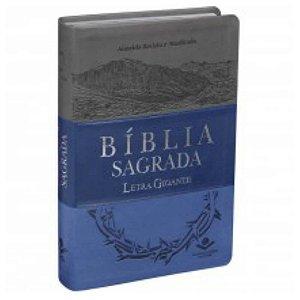Bíblia Sagrada letra gigante / Almeida Revista e Atualizada /Triotone azul / SBB