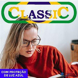 LENTE ANTIRREFLEXO CLASSIC | 1.67 | VISÃO SIMPLES | PROTEÇÃO LUZ AZUL | COMBINADOS COM ASTIGMATISMO ATÉ -2,00