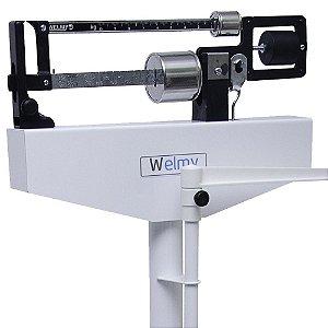 Balança Profissional Adulto Mecânica até 150kg/100g Com Régua Antropométrica - 110ch - Welmy