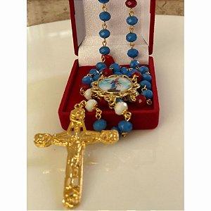 Presente Mãe Terço Maria Passa Na Frente Cristais Importados