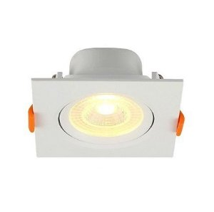 23411 SPOT EMBU. QUAD. ABS+PC 6W  LED 3000K