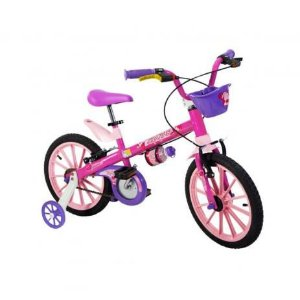 21538 BICICLETA NATHOR A 16 PINK ROSA TOP GIRLS