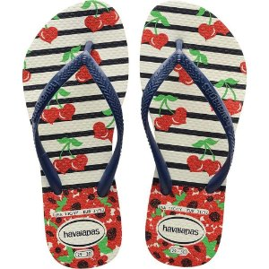 24242 HAVAIANAS KIDS SLIM FASHION BRANCO/MAR 0052 N°29/30